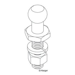 Harger Lightning & Grounding GRDSTD1.25 BRASS GROUND STUD 3/8-16 THREA