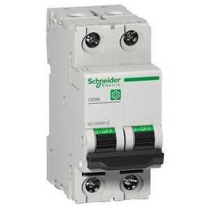 Square D M9F11232 Breaker, Miniature, 2P, 32A, C Curve, 240/415VAC, DIN Rail Mount