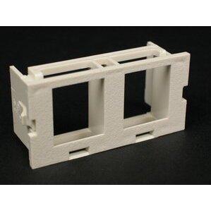 Wiremold CM2-U2KEYA-GY Dual Unloaded Keystone Module, Non-Metallic, Gray