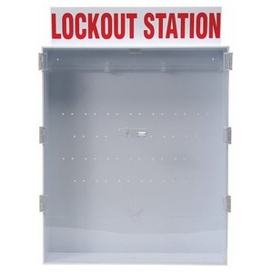 Brady 50996 Large Lockout Station, English Enclosed Style Station, Empty