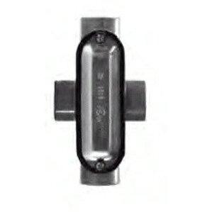"Dottie X100CG Conduit Body With Cover/Gasket, Type: X, Size: 1"", Aluminum"