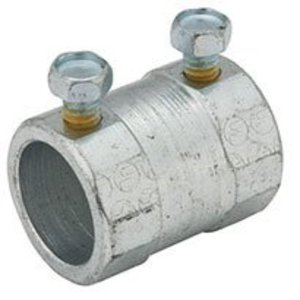 "Hubbell-Raco 3023 Rigid Set Screw Coupling, 3/4"", Steel, Concrete Tight"