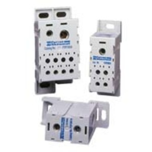 Mersen FSPDB5A Power Distribution Block, Finger Safe, 840A, 2 Line, 2 Load, Aluminum