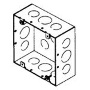 "Bowers 5-SDW-SPL 4-11/16"" Square Box, Welded, Metallic, 2-1/8"" Deep"
