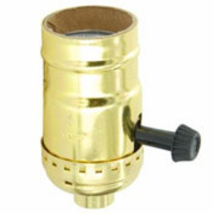 Leviton 7070-PG Incandescent Lampholder, Medium Base, Brass