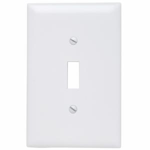 Pass & Seymour TPJ1-W Wall Plate, 1-Gang, Switch, Nylon, Jumbo, White