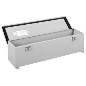 "nVent Hoffman F66T24HC Wiring Trough, NEMA Type 12, Hinged Cover, 6"" x 6"" x 24"", Gray"
