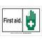 26589 B401 10X14 ANSI BLK,GRN/WHT FIRST,