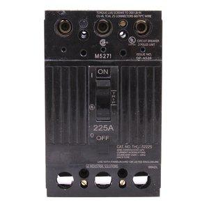 ABB THQD32225X2 Breaker, 225A, 3P, 208/120 -240V, Q-Line, 22 kAIC, Lug In/Lug Out