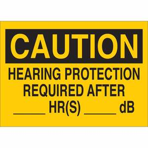 25467 EAR PROTECTION SIGN