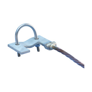 nVent Erico A235E2Q4LH FENCE CLAMP ASSY,TINNED CU,NOM 2-1/2IN P0ST,4/0 X 4FT,LEFT HAND
