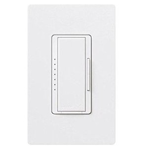 Lutron RRD-6ND-WH Dimmer, 600W, RadioRA-2, White