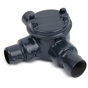 "Ocal GUAT36-G PVC Coated Conduit Outlet Box, Type: GUAT, (3) 1"" Hub, Iron"