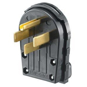 Hubbell-Wiring Kellems RR435P PLUG, SB, 30A 125/250V, 3P4W, ANG, BK