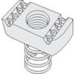 "PHD Manufacturing S3106EG Spring Nut, 3/8"", Steel, Electro-Galvanized"