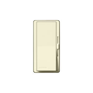 Lutron DV-603P-AL Slide Dimmer, Decora, 600W, 3-Way, Diva, Almond