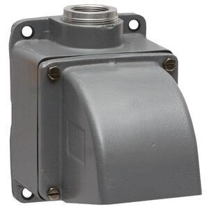 "Hubbell-Wiring Kellems MB601002W PS, INS, ANG BOX,60/100A,1 1/4"" HUB,ALU"