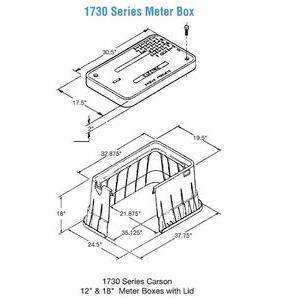 "Oldcastle Precast 1730-18-3B-GREEN-TELEPHONE Underground Box, 32-5/8"" x 19-5/8"" x 18"", Green, Polyethylene"
