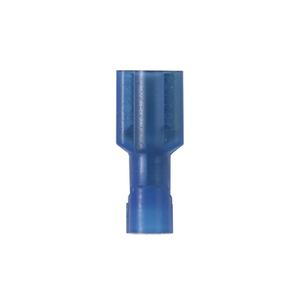 """Panduit DNF14-250FIB-C Female Disconnect, Nylon Fully Insulated, 16 - 14 AWG, .250"""" x .032"""" Tab, Blue"""