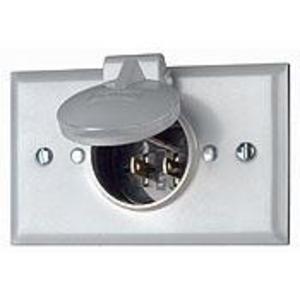 Leviton 4937 15 Amp, 125 Volt, NEMA 5-15P Inlet *** Discontinued ***