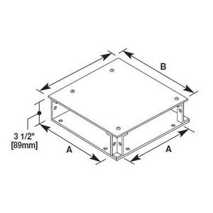 """Wiremold CP10-TS Wall Duct Fitting, T-Unit, Surface Cover, 10"""""""