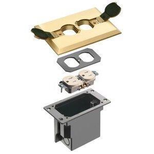 Arlington FLBRF101MB Floor Box w/ Brass Cover