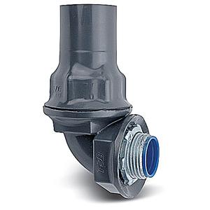"Ocal ST190-G Liquidtight Connector, 90°, 1"", PVC Coated Steel"