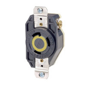 Leviton 2610 Locking Receptacle, 30A, 125V, L5-30R, 2P3W