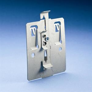 """Erico Caddy SBT184Z34 Conduit Mounting Plate With Rod/Wire Clip, Rod Size: 1/4"""", Wire: #12"""