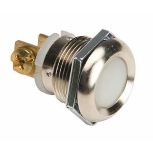 Edwards 691-W Low Voltage, Panel Mount Push Button. Locknut Mounting