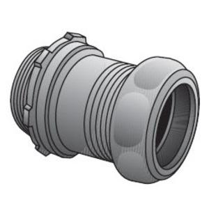 "Appleton 7200S EMT Compression Connector, 2"", Concrete Tight, Steel"