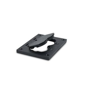 Wiremold 828PR-BLK Floor Box Cover, 1-Gang, Duplex Receptacle, Non-Metallic