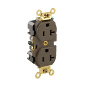 Leviton 5362 Duplex Receptacle, Brown
