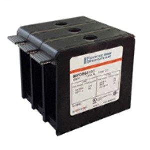 Mersen MPDB63132 Power Distribution Block, MPDB Series, Open-Style, 2-Pole, Aluminum