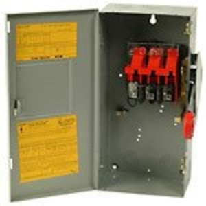 Eaton DH262UGK Safety Switch, HD, Non-Fusible, 2P, 2 Wire, 60A, 600VAC, NEMA 1