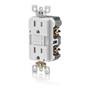 Leviton X7592-W Tamper-Resistant GFCI Receptacle, 15A, 125V, White *** Discontinued ***