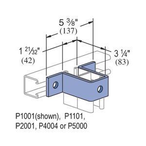 Unistrut P1737-EG UNS P1737-EG FITTING U 3HOLE
