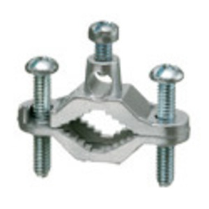 "Arlington 720Z Ground Clamp, Type: Bare Wire, Pipe Size: 1/2 - 1"", Zinc Die Cast"