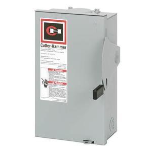 Eaton DG321NRB Safety Switch, 30A, 3P, 240V, Type DG, Fusible, NEMA 3R
