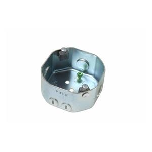 "Pass & Seymour 55528 4"" Octagon Ceiling Box, 2"" Deep, KOs, Metallic"