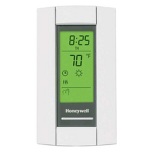 Aube Technologies TH115-A-240-D-B Thermostat, Programmable, 7 Days, 24 VAC, 3600 Watt, Wall Mount, Heat Only