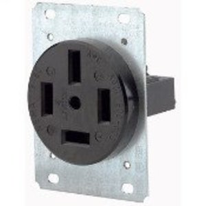 Leviton 8360 60 Amp Flush Mount Receptacle, 120/208V 3PH, 18-60R, 4P4W