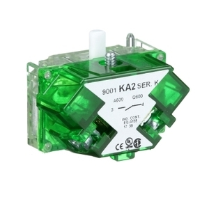 "Square D 9001KA2 Contact Block, 1NO, 30mm, 0.75"" Depth"