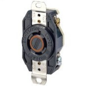 Leviton 2410 Locking Receptacle, 20A, 125/250V, L14-20R, 3P4W