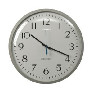 "Edwards 1887B Analog Wall Clock, 12"" Face, Brown *** Discontinued ***"