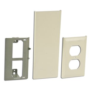 Wiremold 30TP-B Duplex Receptacle Cover for Tele-Power Pole, Ivory