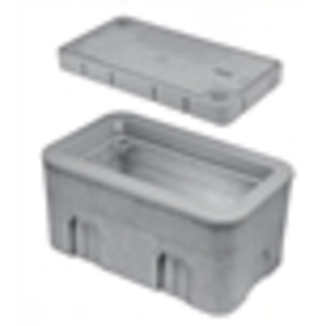 "Oldcastle Precast 1000115 Concrete Utility Box, 13 1/4"" x 24 1/4"""