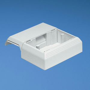 Panduit T45WCWH T-45 Offset Box for Screw-on Faceplates