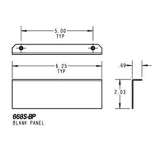 Steel City 668S-BP 668s Blank Plate