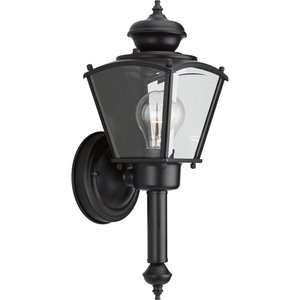 Progress Lighting P5846-31 BrassGUARD 1-60W MED WALL LANTERN BK